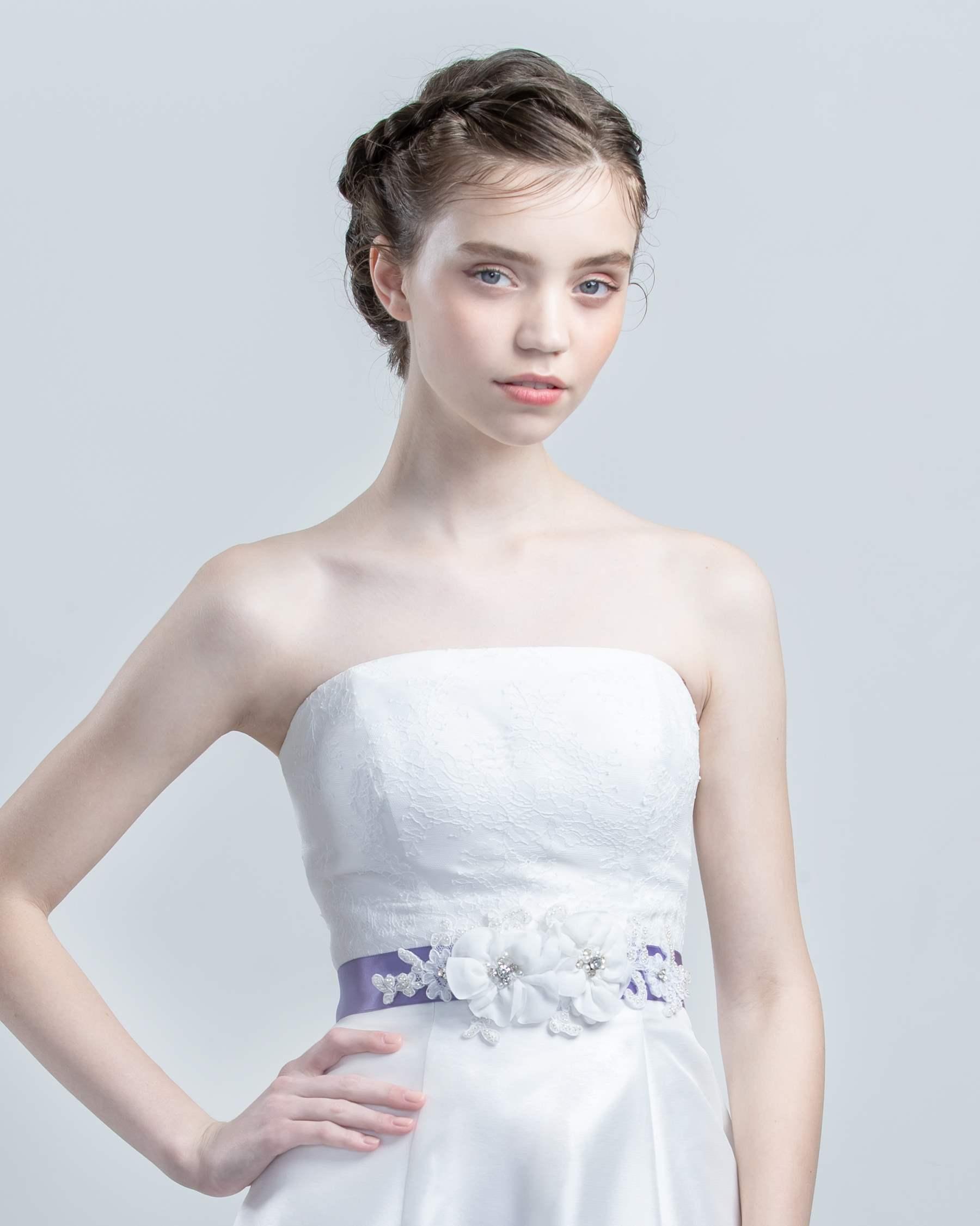 48a093e889c47 二次会ドレスはネットで簡単レンタル「レントアキューティー」 サッシュ ...